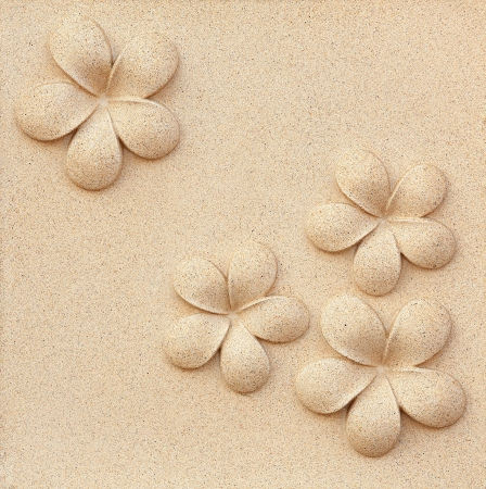 Plumeria carved stone photo