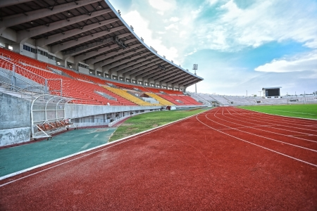 Run race track in sport stadium