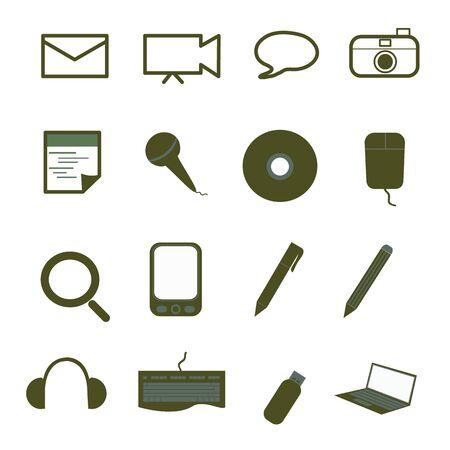 Office icons set Illustration