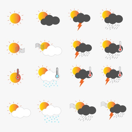 Weather Icons Stock Vector - 20692214
