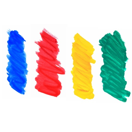 color brush strokes Illustration