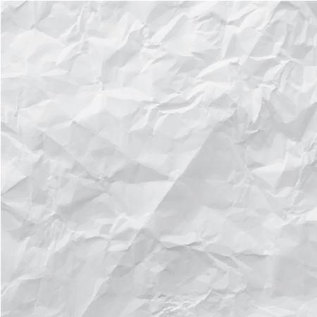 しわくちゃの紙、イラスト  イラスト・ベクター素材