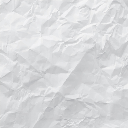 wrinkled paper: crumpled paper, illustration Illustration
