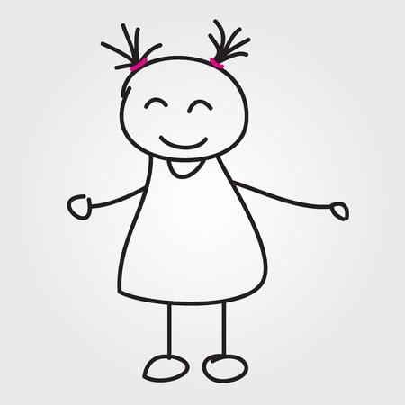 strichmännchen: Kinder Hand gezeichnet