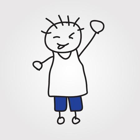 simple girl: children hand drawn