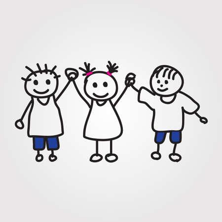 strichm�nnchen: Kinder Hand gezeichnet