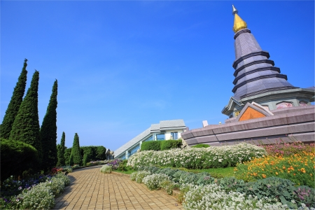 Landscape of pagoda Inthanon mountain,Chiang mai Thailand. Stock Photo - 21410809