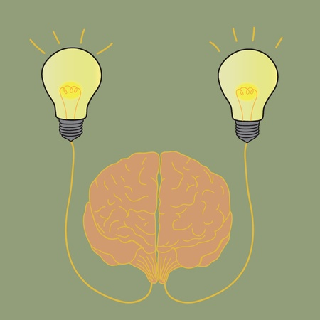 Lightbulb Brain Idea Vector