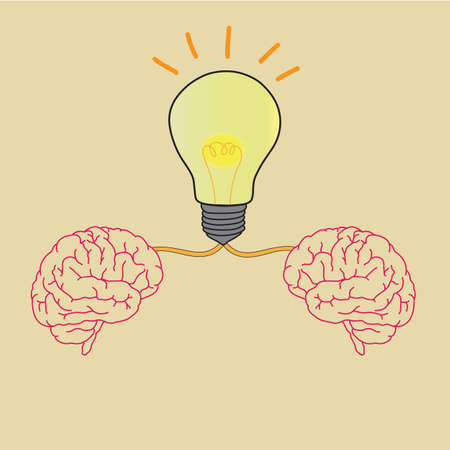 Lightbulb Brain Idea Illustration