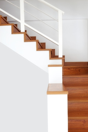 Interior - wood stairs and handrail photo