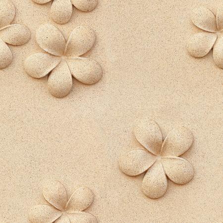 stone carving: Seamless Plumeria carved stone