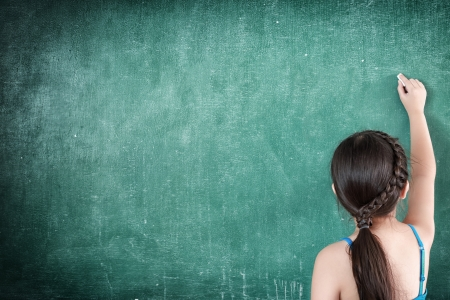 mc2: girl drawing on chalkboard