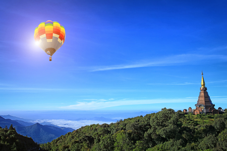 Hot air balloon at Doi Inthanon Chiang mai Thailand photo