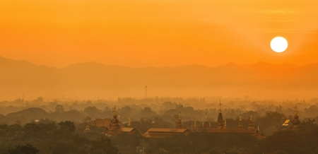 Chiang mai at sunrise photo
