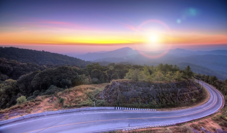 doi: Doi Inthanon National park at sunrise Chiang Mai Thailand