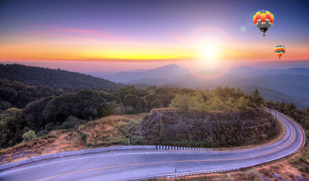 Doi Inthanon National park at sunrise Chiang Mai Thailand photo