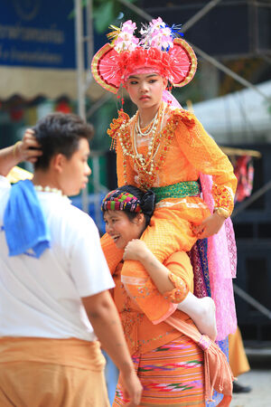 chiangmai: CHIANGMAI, THAILAND-MARCH 30:Poi Sang Long festival, Traditional annual ceremony of unidentified boys to become novice monk on March 30,2014 in Chiangmai, Thailand. Editorial