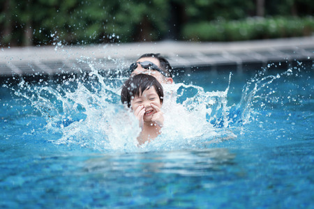 children swimming pool Stock Photo