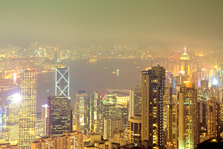 Hong Kong at night, Golden town photo