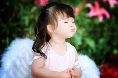 princess dress: Little fairy in flower field