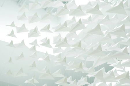 Abstract of paper planes photo