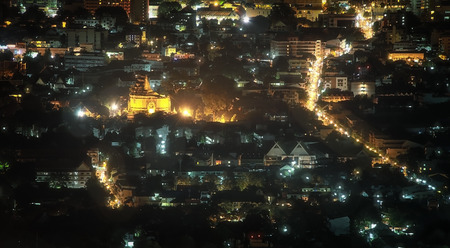 tollway: Chiang Mai city at nigh, Thailand Stock Photo