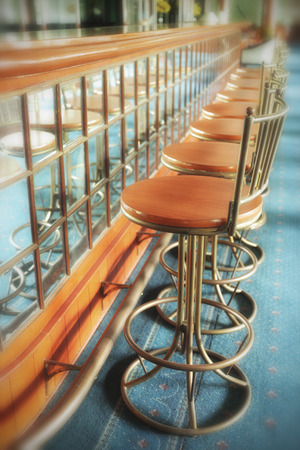 barstools: Vintage Counter and barstools
