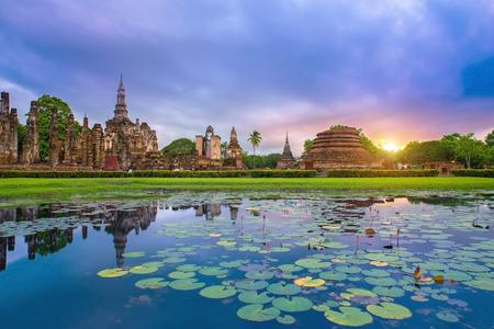 Sukhothai historical park Thailand Foto de archivo
