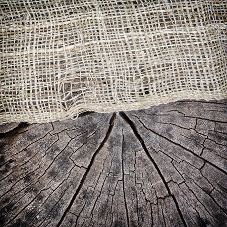 fibra: natural linen and cracked wood texture for the background