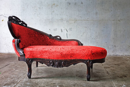 Red Chair in vintage room  photo