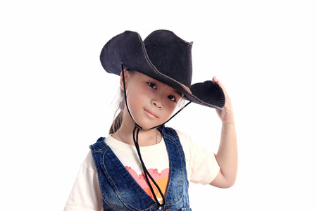 Asian Girl Cowboy Hat