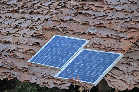 solarcell: photovoltaic in countryside