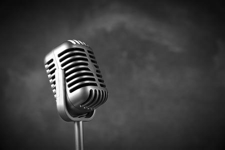 Retro style microphone photo