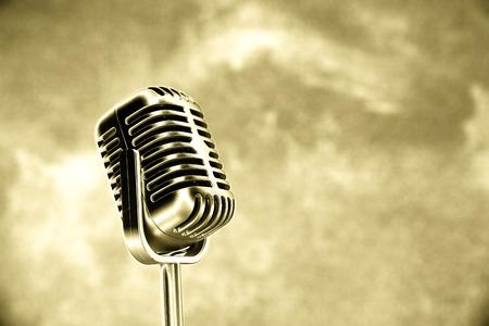 reggae: Retro microphone de style Banque d'images