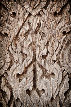 Wood Carve texture background thai style photo
