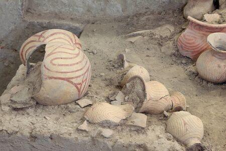 ban: Ancient pottery of Ban Chiang, Udon Thani Thailand