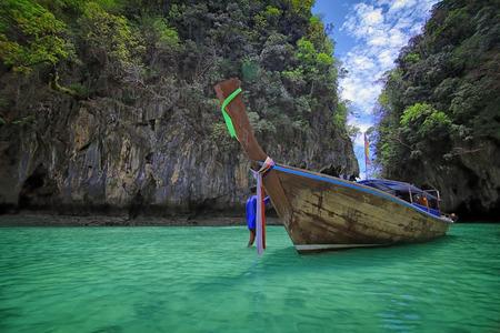 Hong island lagoon, Krabi Thailand photo