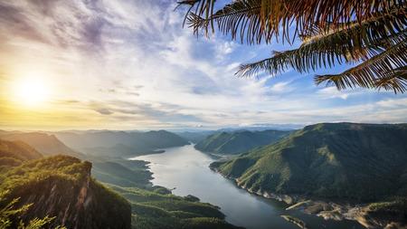 Mae Ping National Park at sunrise photo