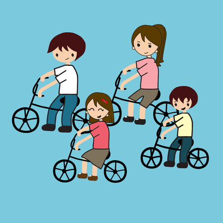bycicle: family cycling