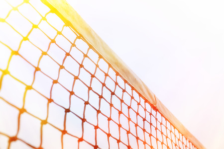 individual sport: Tennis Ball on the Court Stock Photo