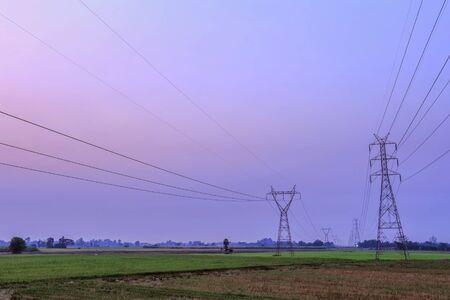 electricity pylon: High voltage electricity pylon