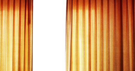 curtain background: Golden curtain