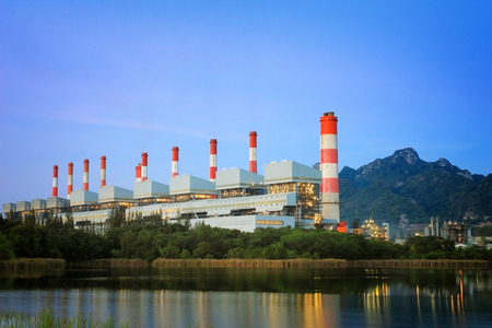 coal fired: Coal power plant at twilight Editorial