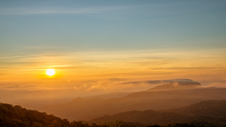 Doi inthanon national park at sunrise, Chiang mai Thailand