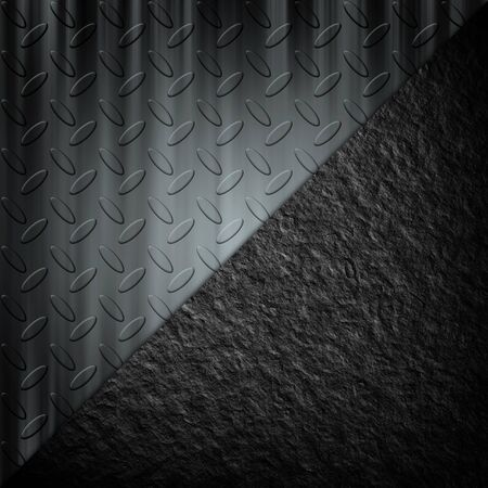 diamond plate: Steel diamond plate pattern and stone background texture