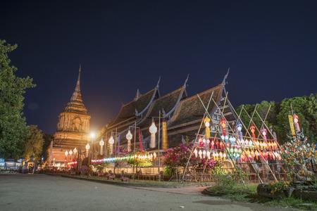 molee: Wat lok molee at night in Chiang mai Thailand