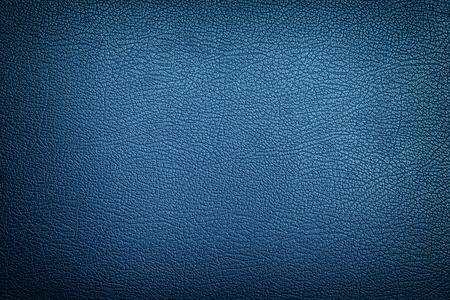 Blauwe leder texture achtergrond Stockfoto