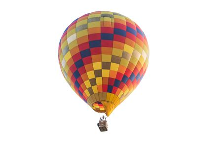 work path: Hot air balloon isolated on white background with work path