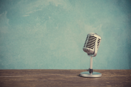 microphone: Retro style microphone