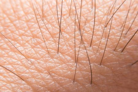 Super macro of human skin